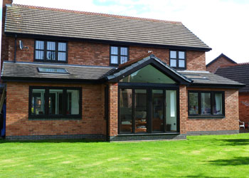 Property extension on house in Wrexham, North Wales